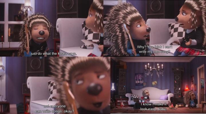 Ash e Lance conversam na sala