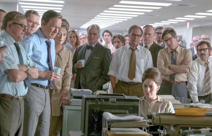 "Meryl Streep e elenco de ""The Post"""